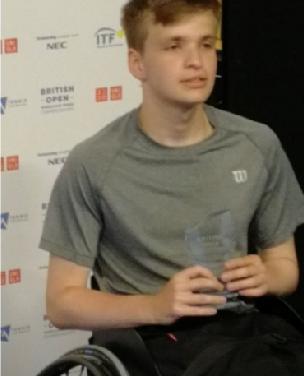 Ross Gourley wins British Open Junior Wheelchair Tennis 2019 singles title